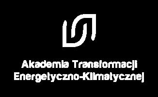 Logo ATEK wersja pełna pion biały